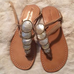 Tommy Bahama Mother of Pearl Sandals Size 6